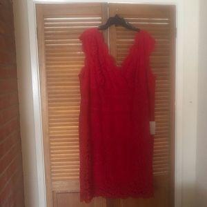 Tashashi red dress size 24  💄